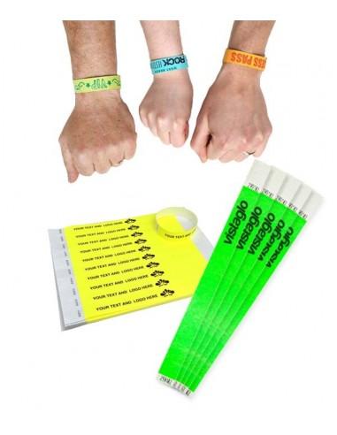 Bracelets contrôle entrée Papier Tyvek ® SLIM 19mm Personnalisés - Evenementiel
