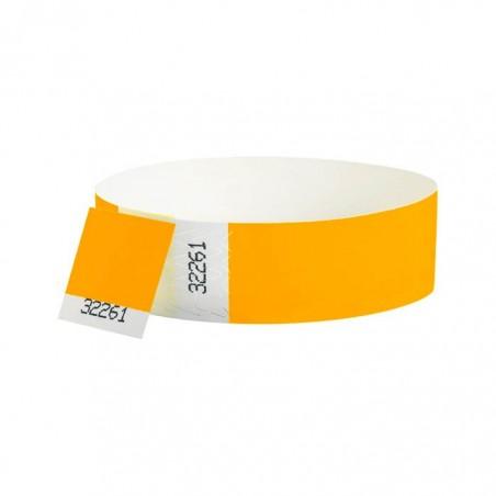 Bracelets contrôle entrée Papier Tyvek ® SLIM 19mm Personnalisés - Evenementiel - ORANGE