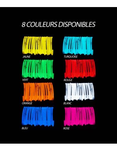100 Bracelets Fluo Lumineux Premium Superbrite® - UNIS