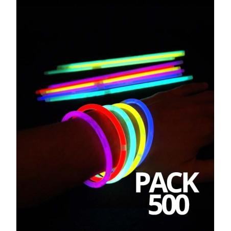 500 Bracelets Fluorescent Standard Assortis - Pack économique - Prix de gros - soirée fluo