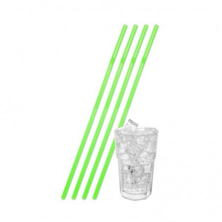 25 Pailles Fluo Geantes - Vert fluo