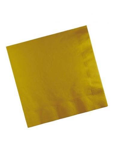 Sachet 20 Serviettes en papier 33cm Dorées pour vos réceptions