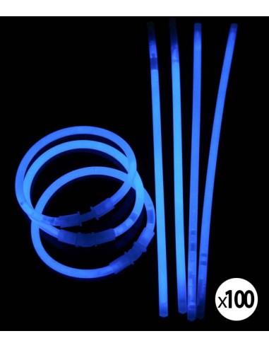 Bracelets Lumineux fluorescent  de couleur bleu une fois activés