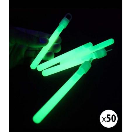 50 Bâtons Fluo Lumineux 10 cm Vert - Superbrite®