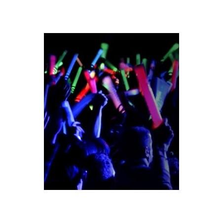 Baton Mousse Lumineux LED ROUGE 47cm 3 fonctions lumineuses pour concert festival évènement stade