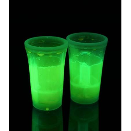 2 Shooters Lumineux Fluorescent PowerGlass™ 4 cl - Vert