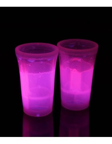2 Shooters Lumineux Fluorescent PowerGlass™ 4 cl - Rose