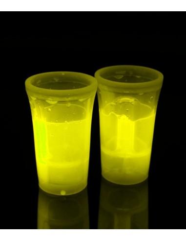 2 Shooters Lumineux Fluorescent PowerGlass™ 4 cl - Jaune