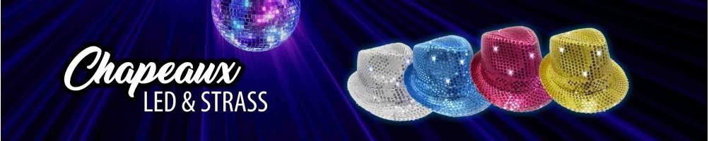 Chapeau Lumineux clignotant LED | Accessoires soirées