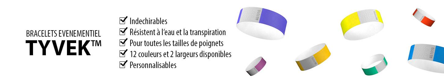 De nombreux avantages avec les bracelets évènementiels en papier Tyvek