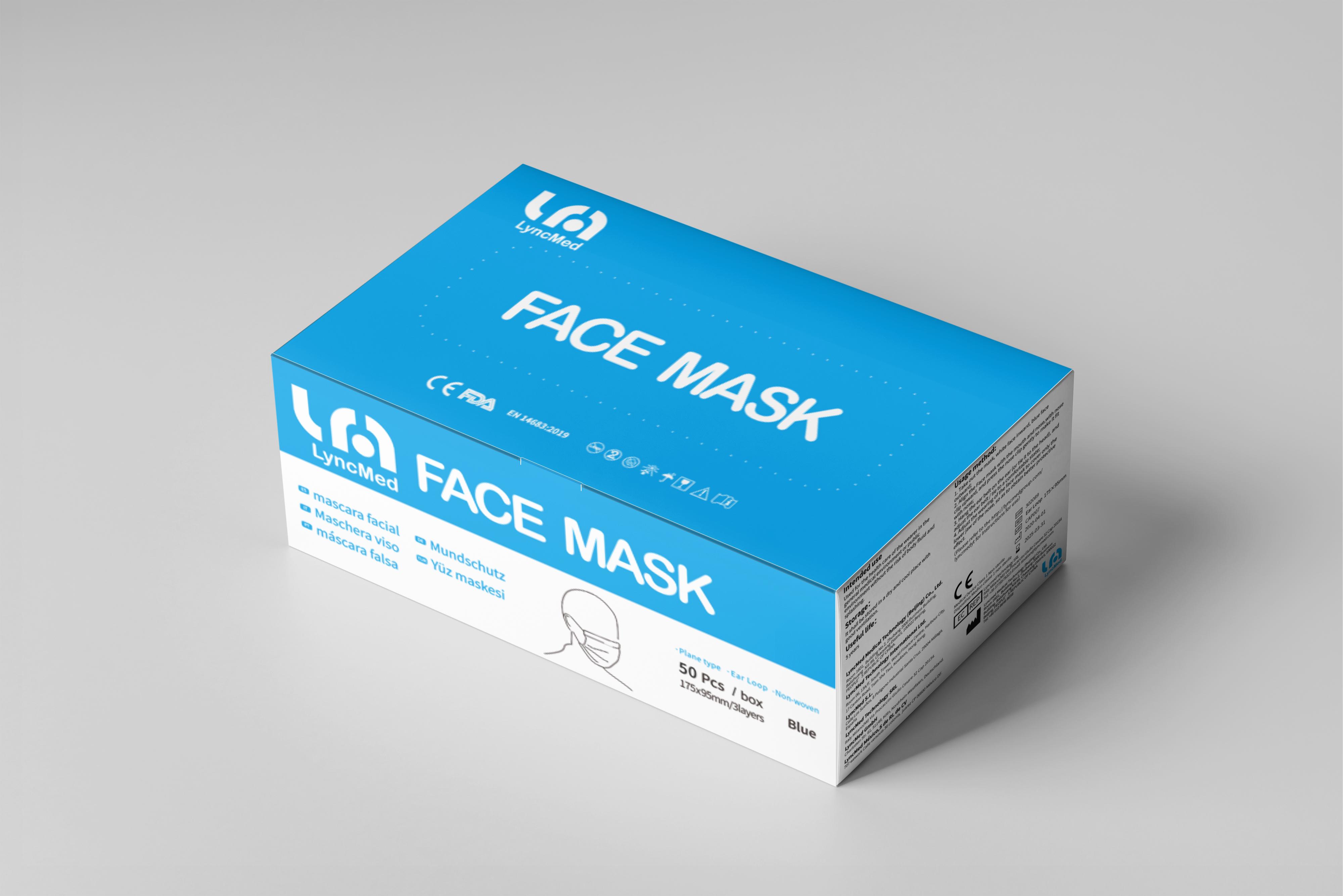 Boîte de 50 masques chirurgicaux de type II normes médicales UE EN 14683