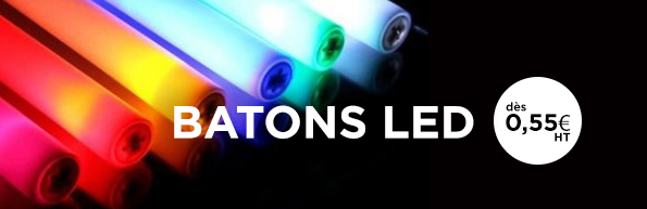 Batons lumineux à LED