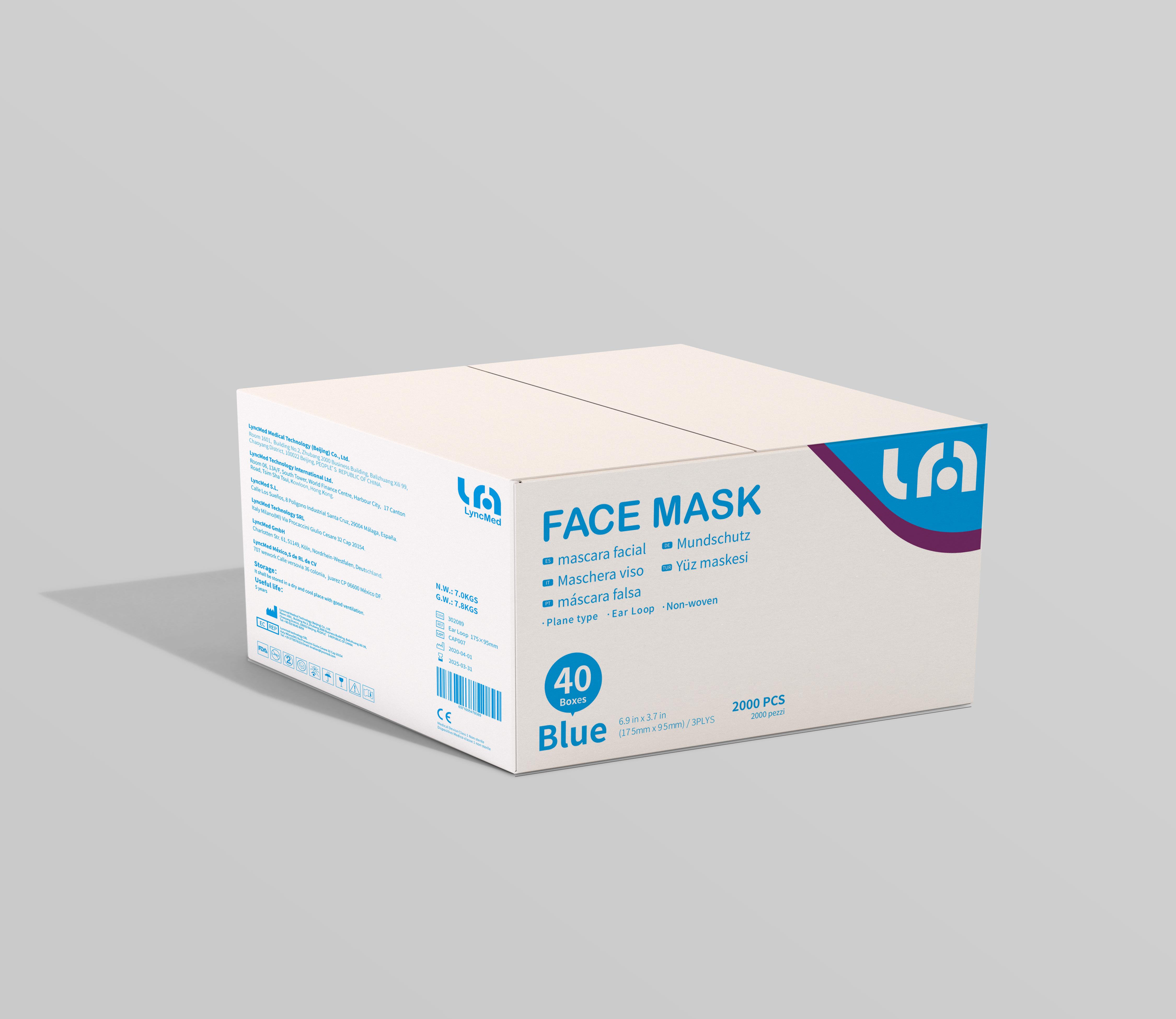 Carton de 2000 masques chirurgicaux de type II normes médicales UE EN 14683
