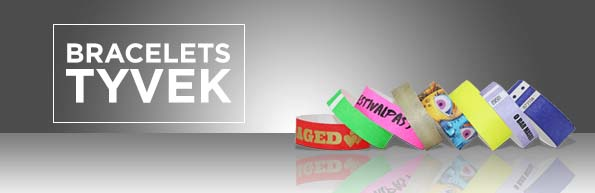 Bracelets évènementiels en Tyvek avec personnalisation ou sans marquage