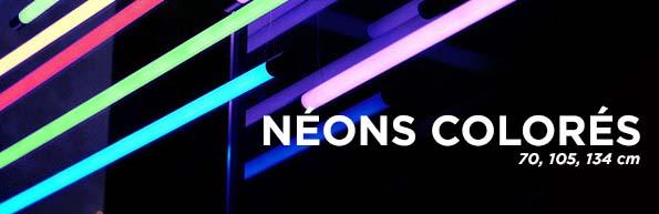 Tubes néons coloré fluorescent sur pieds pour vos décors