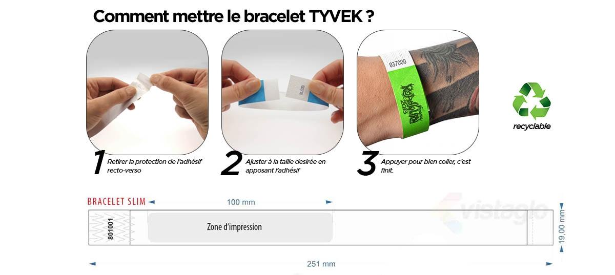 Comment attacher les bracelets Tyvek autour de votre poignet